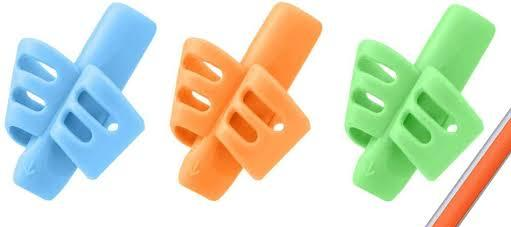 Pencil grips with 2 holes