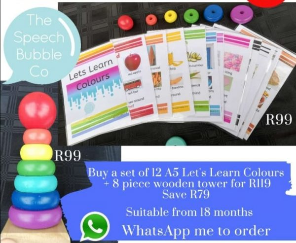 Colourful Combo (cards & tower)